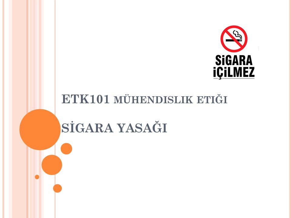 SIGARANIN ZARARLARI Sigara; Akciğer kanseri ölümlerinin % 90'ından, Tüm kanser ölümlerinin % 30'undan, Bronşit ölümlerinin % 75'inden, Kalp krizi ölümlerinin % 25'inden sorumludur.