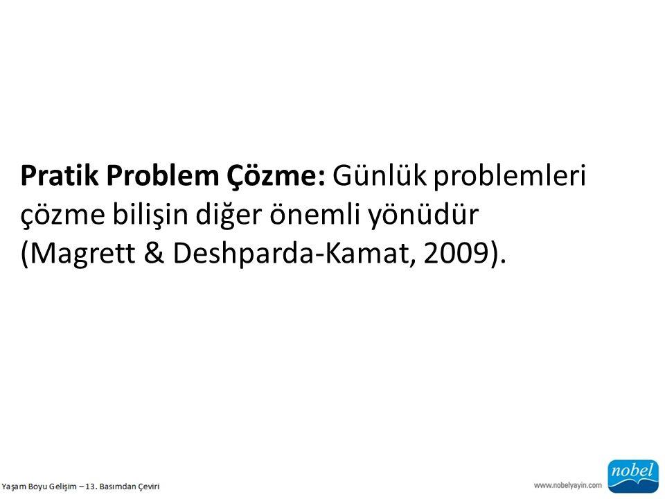Pratik Problem Çözme: Günlük problemleri çözme bilişin diğer önemli yönüdür (Magrett & Deshparda-Kamat, 2009).