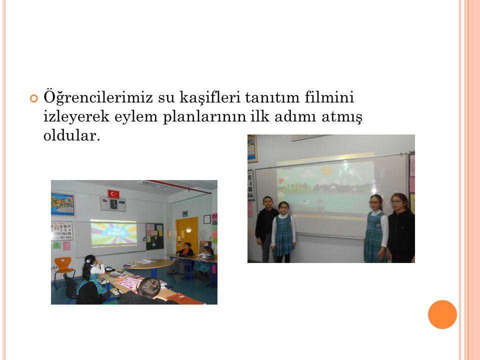 Öğrencilerimiz su kaşifleri tanıtım filmini izleyerek eylem planlarının ilk adımı atmış oldular.