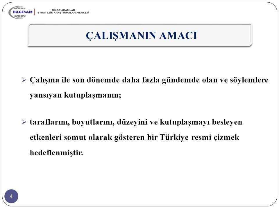 15  Bir diğer önemli bulgu ise yaklaşık her 10 kişiden birisinin Kürtlerle Türkiye'de birlikte yaşamayı problem olarak görmesidir.