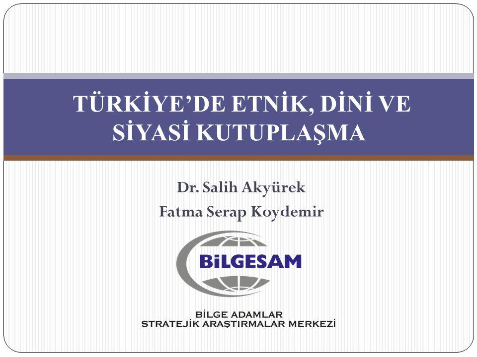 TÜRKİYE'DE ETNİK, DİNİ VE SİYASİ KUTUPLAŞMA Dr. Salih Akyürek Fatma Serap Koydemir