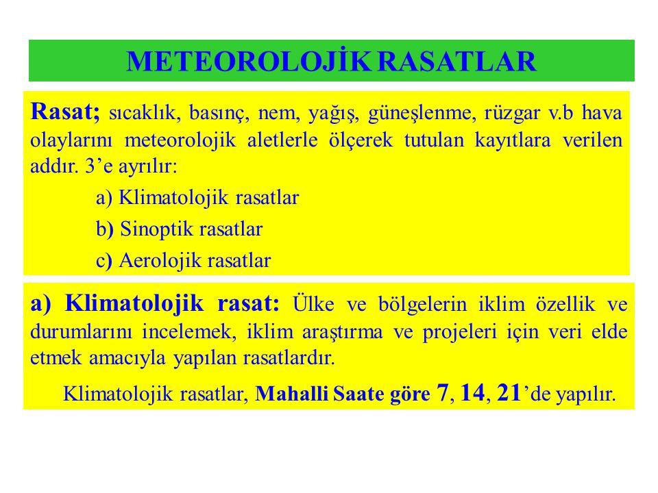 Rasat; sıcaklık, basınç, nem, yağış, güneşlenme, rüzgar v.b hava olaylarını meteorolojik aletlerle ölçerek tutulan kayıtlara verilen addır. 3'e ayrılı