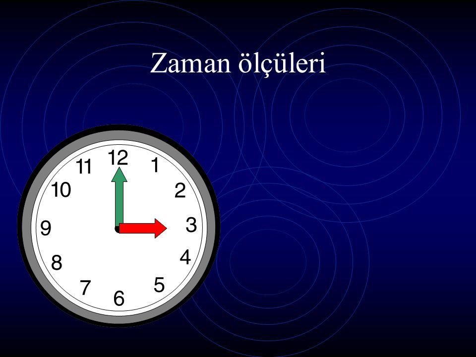 Saat kaç? Saat altı veya 6:00