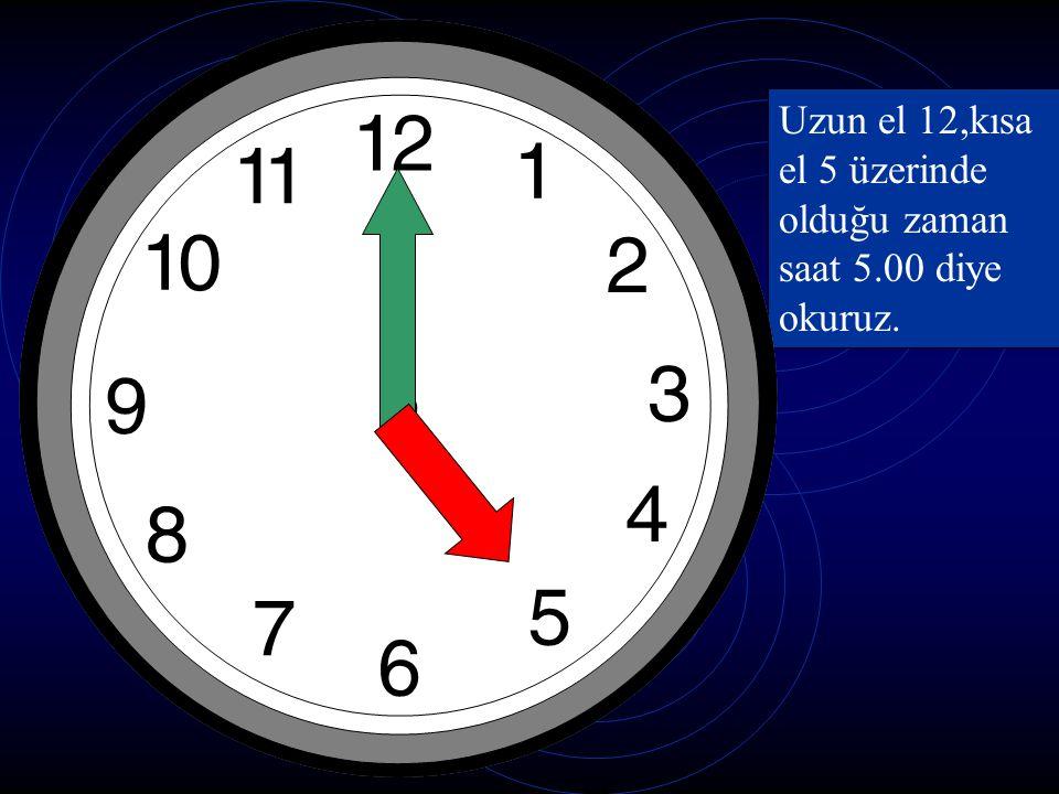 Saat kaç? Saat bir veya 1:00