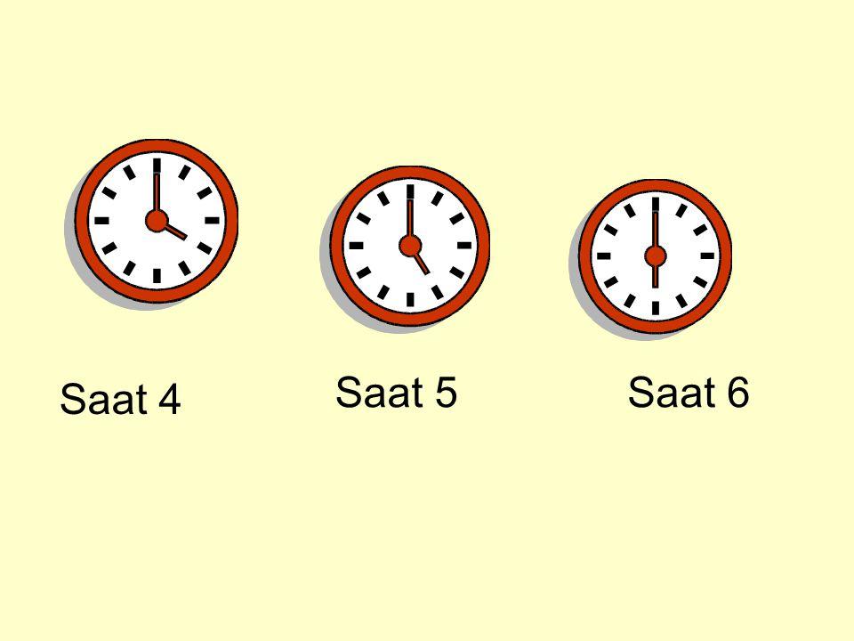 Saat 4 Saat 5Saat 6