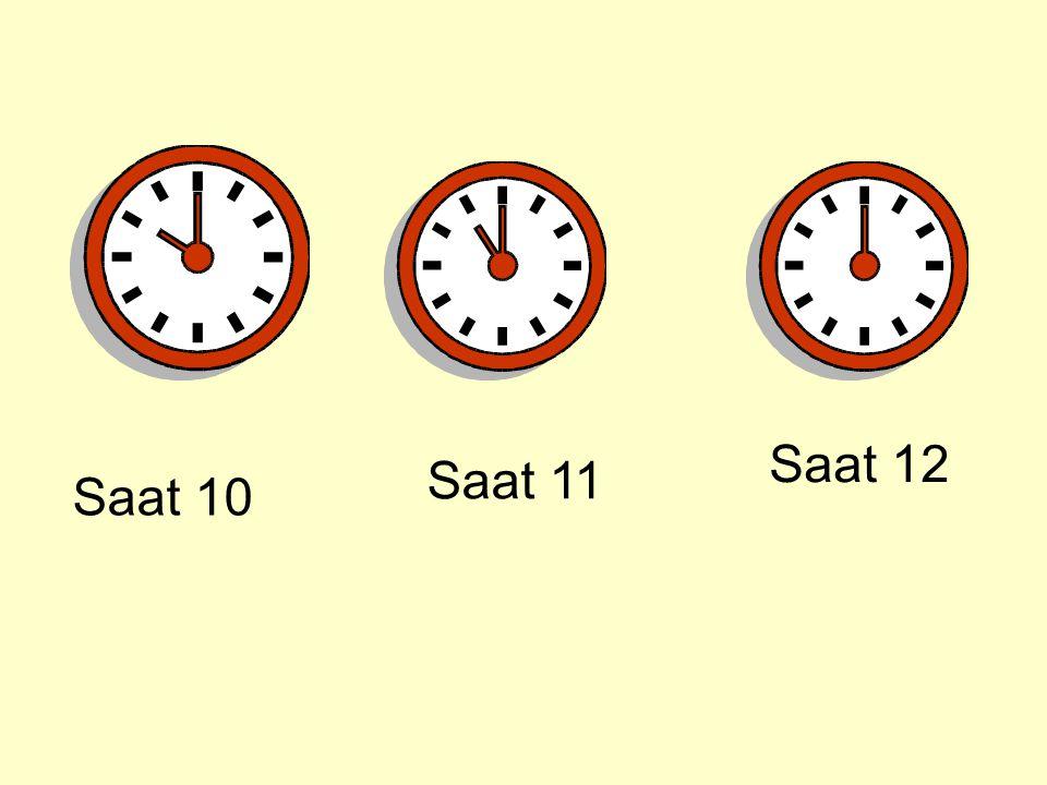 Saat 10 Saat 11 Saat 12