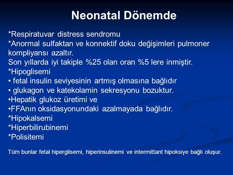 MATERNAL KOMPLİKASYONLAR Erken doğum Preeklamsi-eklamsi Tip 2 DM Sezeryan