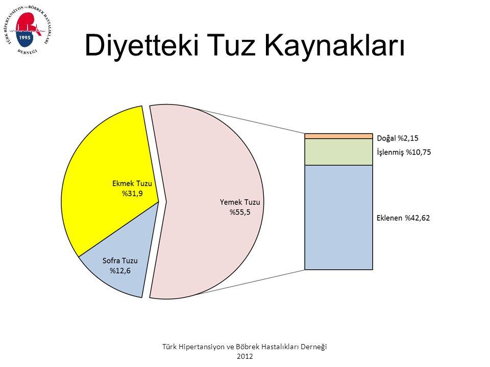 Türk Hipertansiyon ve Böbrek Hastalıkları Derneği 2012 Diyetteki Tuz Kaynakları