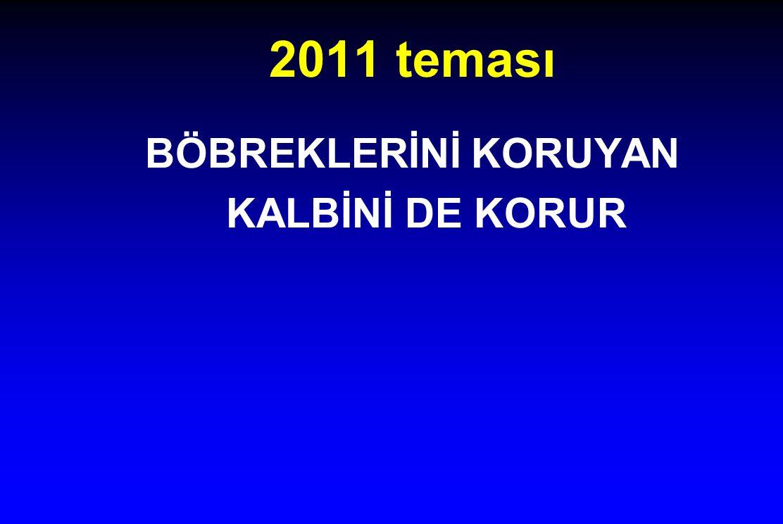 2011 teması BÖBREKLERİNİ KORUYAN KALBİNİ DE KORUR