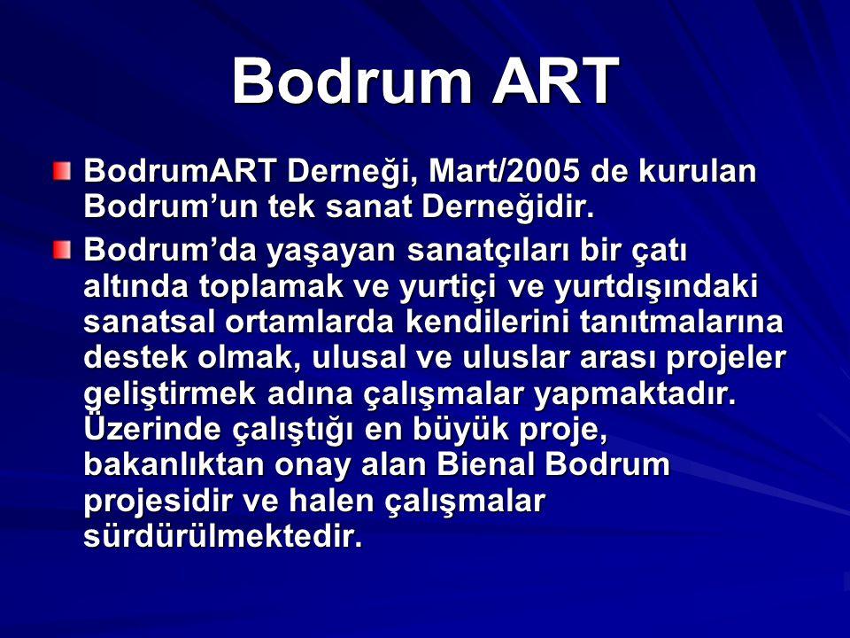 Bodrum ART BodrumART Derneği, Mart/2005 de kurulan Bodrum'un tek sanat Derneğidir. Bodrum'da yaşayan sanatçıları bir çatı altında toplamak ve yurtiçi