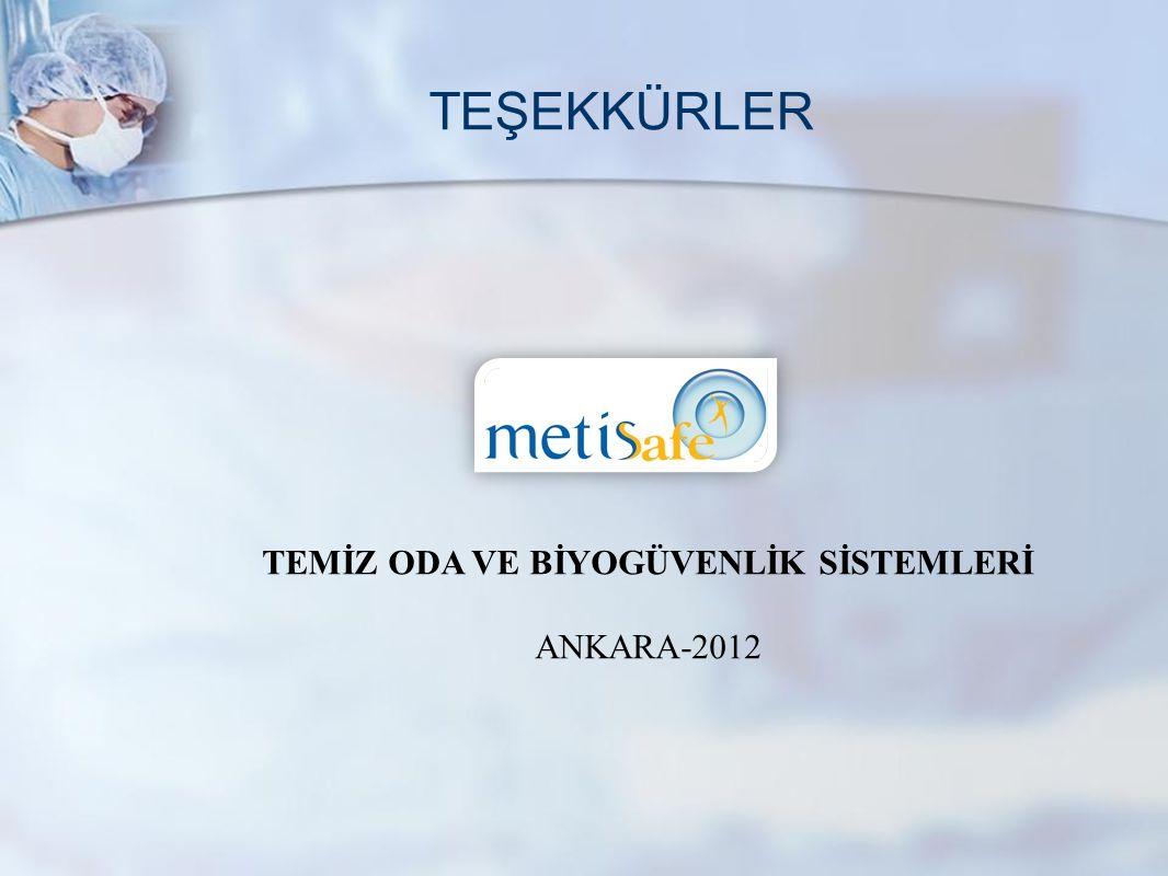 www.metisafe.com TEŞEKKÜRLER TEMİZ ODA VE BİYOGÜVENLİK SİSTEMLERİ ANKARA-2012