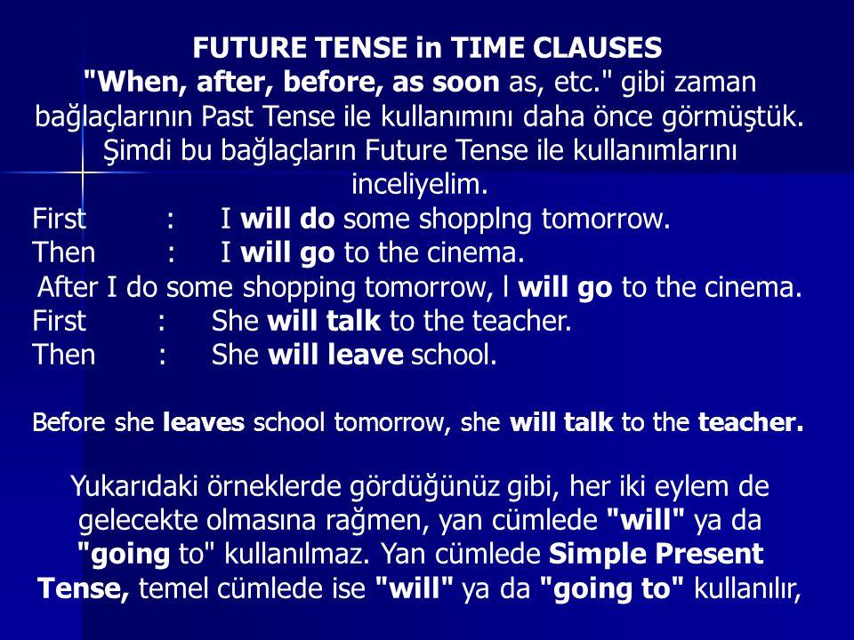 By the time , when ve before , bu tense ile sık kullanılan zaman bağlaçlarıdır.