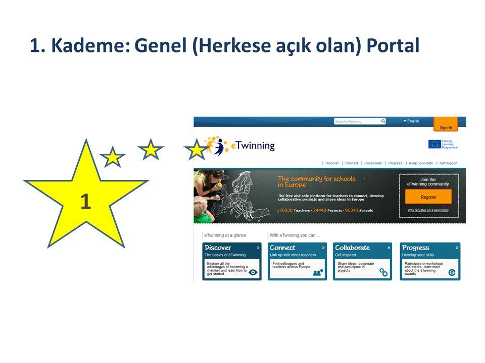 1. Kademe: Genel (Herkese açık olan) Portal 1