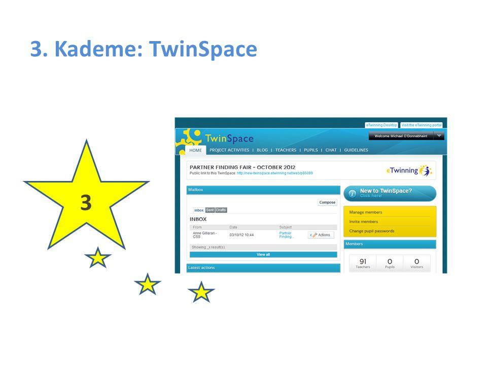 TwinSpace – İletişim kurmaya yönelik Araçlar TwinSpace'de öğretmenlerin birbirleriyle iletişim kurabildiği özel bir alan bulunmaktadır.