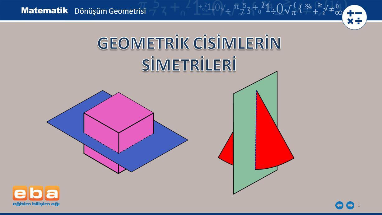 2 Küp, karşılıklı iki yüzlerinin paralel olan kenarlarının orta dikmelerinden ve paralel olan yüz köşegenlerinden geçen düzlemlere göre simetriktir.