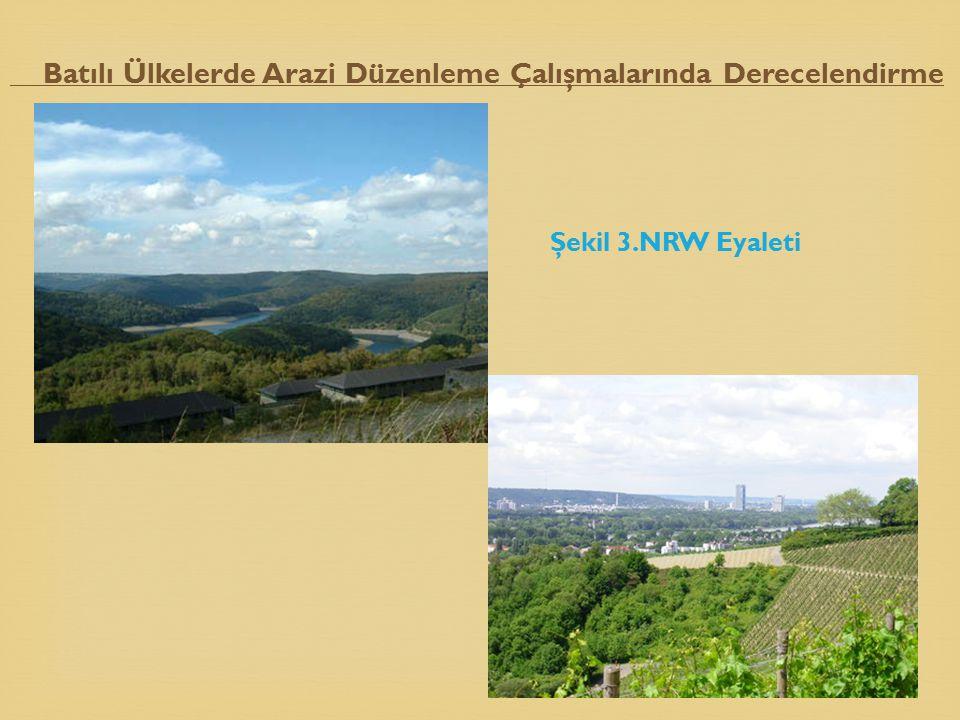 Şekil 3.NRW Eyaleti Batılı Ülkelerde Arazi Düzenleme Çalışmalarında Derecelendirme 31