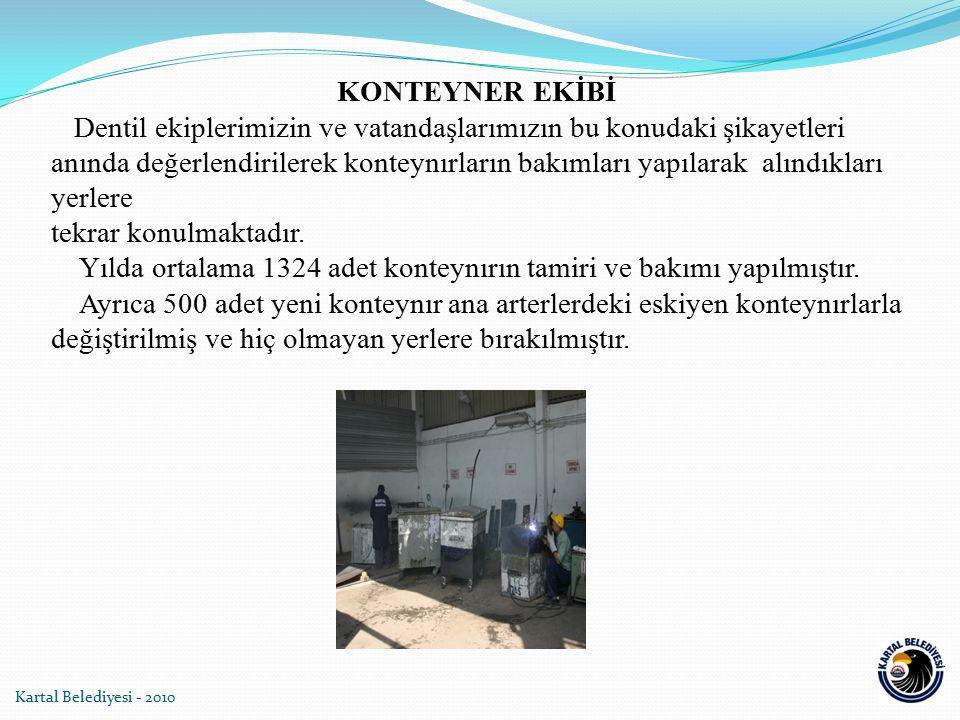 Kartal Belediyesi - 2010 KONTEYNER EKİBİ Dentil ekiplerimizin ve vatandaşlarımızın bu konudaki şikayetleri anında değerlendirilerek konteynırların bak
