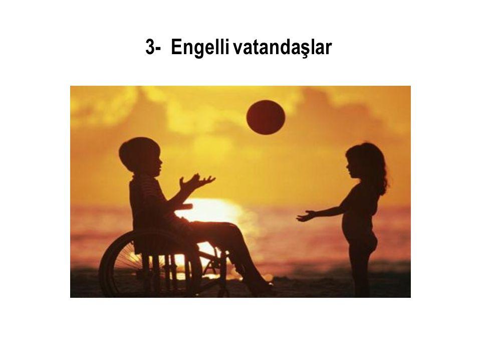 3- Engelli vatandaşlar