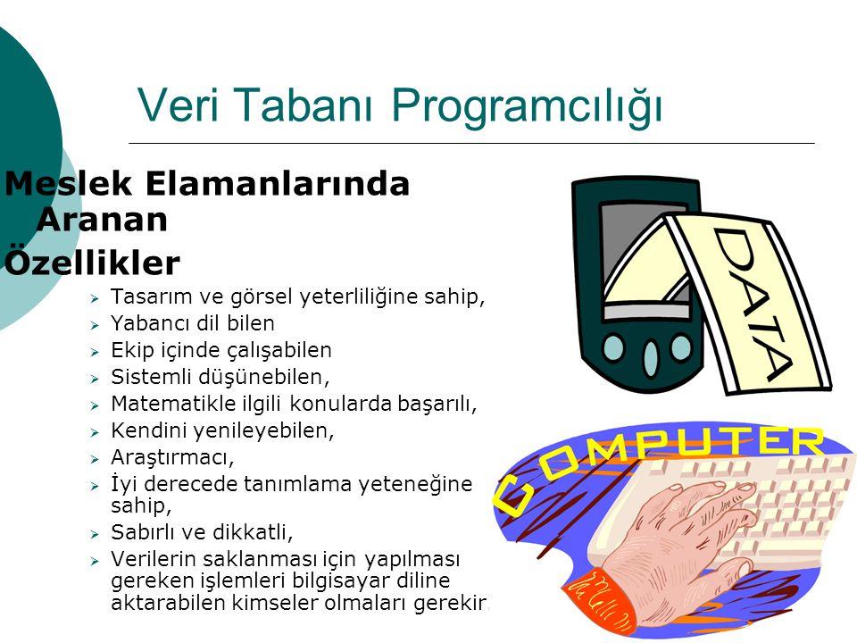 Meslek Elamanlarında Aranan Özellikler  Tasarım ve görsel yeterliliğine sahip,  Yabancı dil bilen  Ekip içinde çalışabilen  Sistemli düşünebilen,
