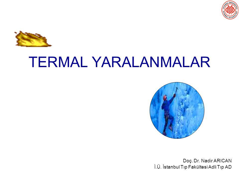 TERMAL YARALANMALAR Doç. Dr. Nadir ARICAN İ.Ü. İstanbul Tıp Fakültesi Adli Tıp AD