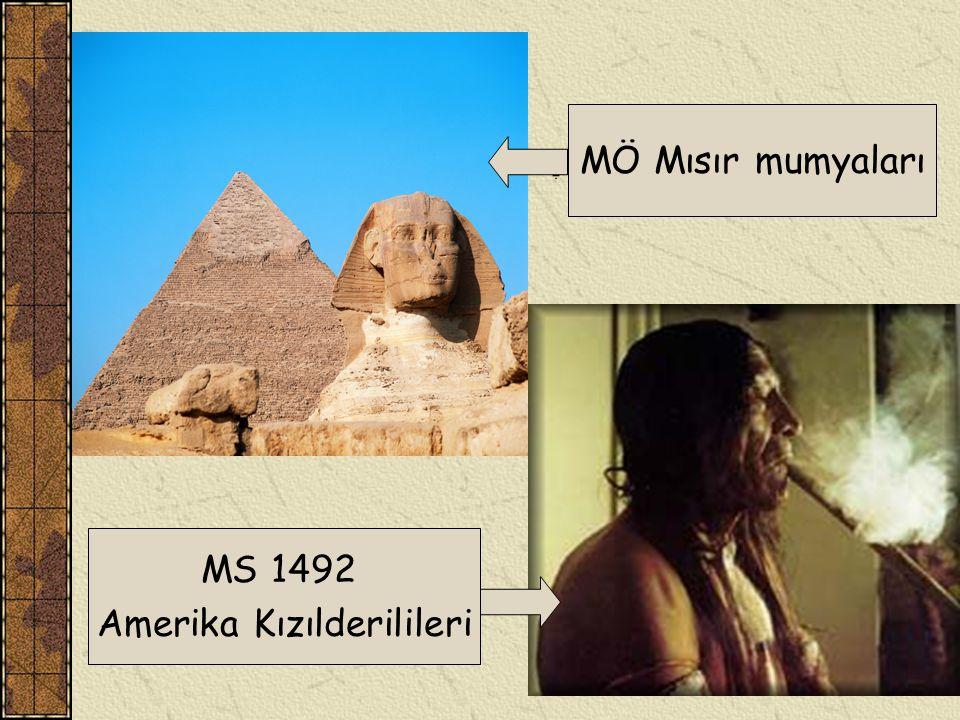 MÖ Mısır mumyaları MS 1492 Amerika Kızılderilileri