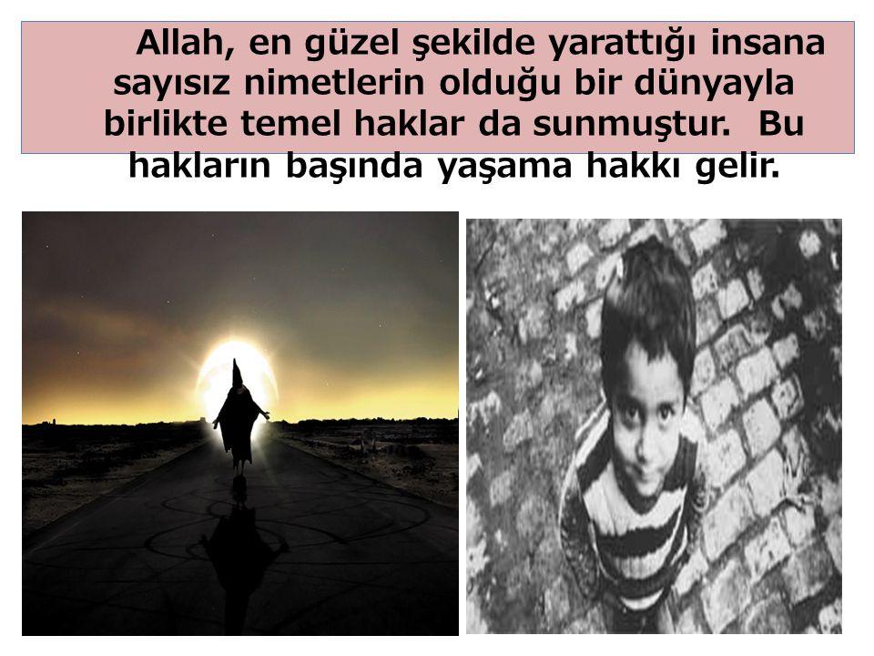 25 Allah, en güzel şekilde yarattığı insana sayısız nimetlerin olduğu bir dünyayla birlikte temel haklar da sunmuştur.