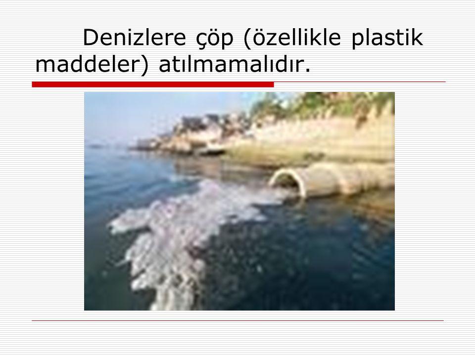 Denizlere çöp (özellikle plastik maddeler) atılmamalıdır.