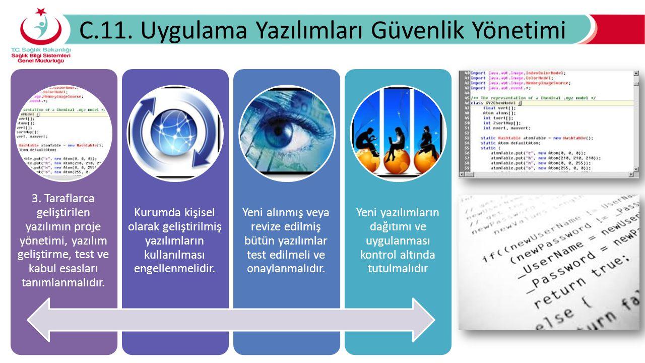 C.11.Uygulama Yazılımları Güvenlik Yönetimi 3.