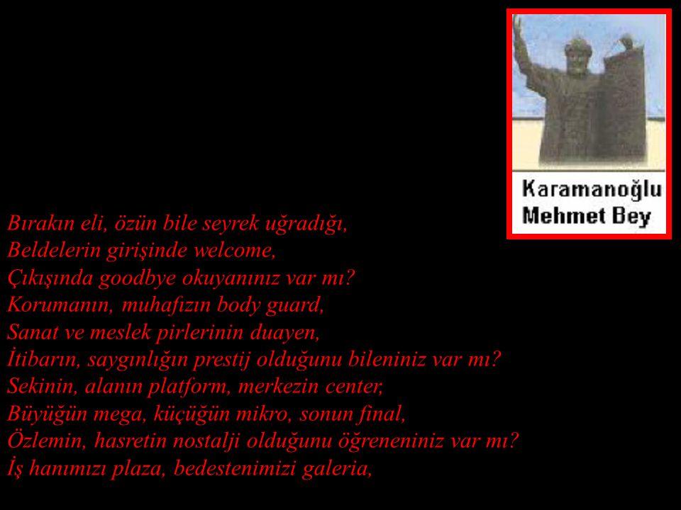 Dolandığınız yerlerdeki Türkçe olmayan isimlere, Gördüklerine, duyduklarına üzüleniniz var mı? Tanıtımın demo, sunucunun spiker, Gösteri adamının show