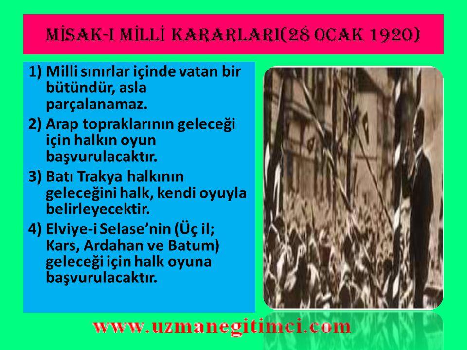 SON OSMANLI MEBUSAN MECL İ S İ (12 OCAK 1920)  Son Osmanlı Mebusan Meclisi 12 Ocak 1920'de açılmıştır.Meclis'te Müdafa-i Hukuk grubu baskılardan dola
