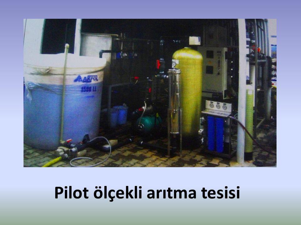 Pilot ölçekli arıtma tesisi