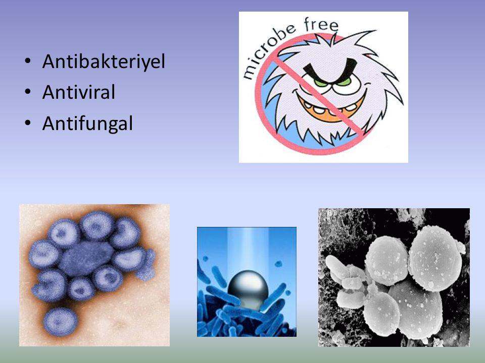Antibakteriyel Antiviral Antifungal
