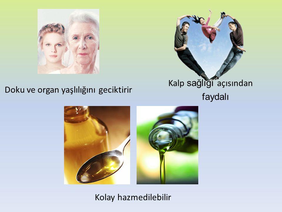 Doku ve organ yaşlılığını geciktirir Kalp sağlığı açısından faydalı Kolay hazmedilebilir