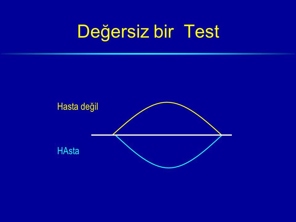 Değersiz bir Test Hasta değil HAsta