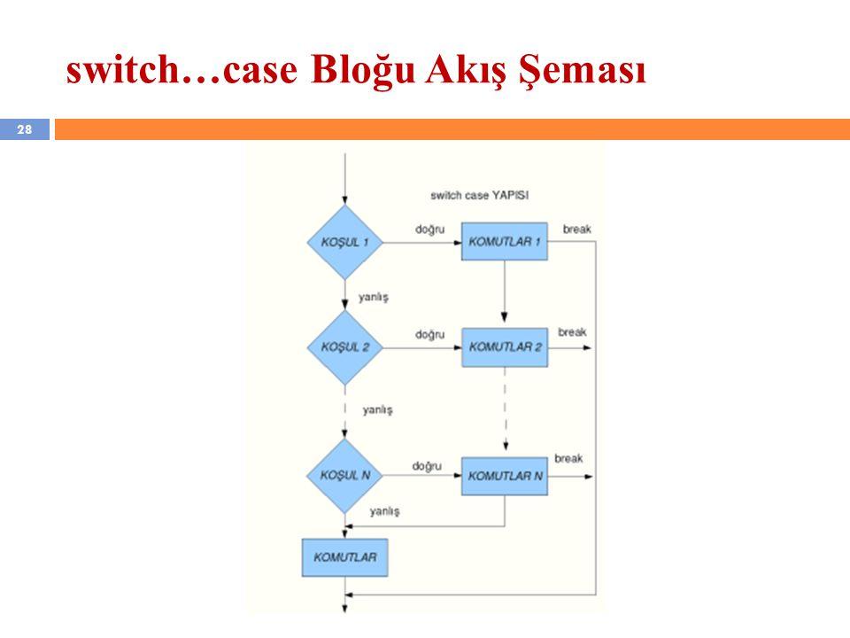 28 switch…case Bloğu Akış Şeması