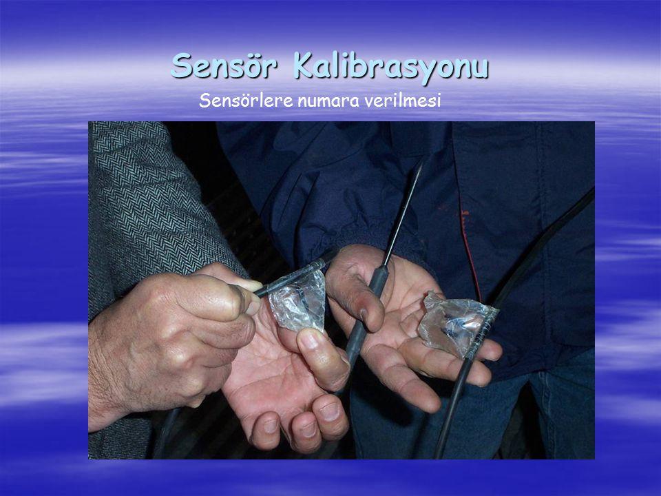 Sensör Kalibrasyonu Sensörlere numara verilmesi