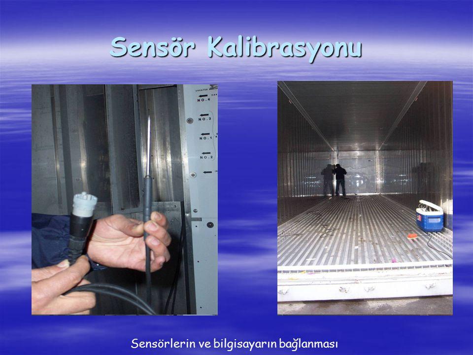 Sensör Kalibrasyonu Sensörlerin ve bilgisayarın bağlanması