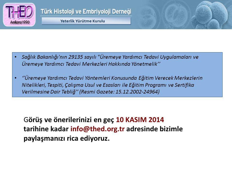 ''Tıbbi Histoloji ve Embriyoloji AbD'' ibaresi Çukurova Üniversitesi'nin başvurusu Yök nezdinde kabul edildi, Hacettepe ve Ege Üniversitesi'ninki reddedildi.