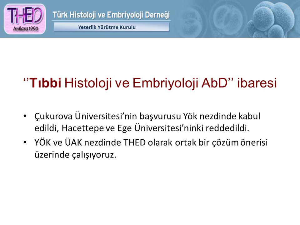 ''Tıbbi Histoloji ve Embriyoloji AbD'' ibaresi Çukurova Üniversitesi'nin başvurusu Yök nezdinde kabul edildi, Hacettepe ve Ege Üniversitesi'ninki redd