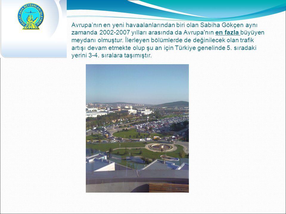 Avrupa'nın en yeni havaalanlarından biri olan Sabiha Gökçen aynı zamanda 2002-2007 yılları arasında da Avrupa nın en fazla büyüyen meydanı olmuştur.