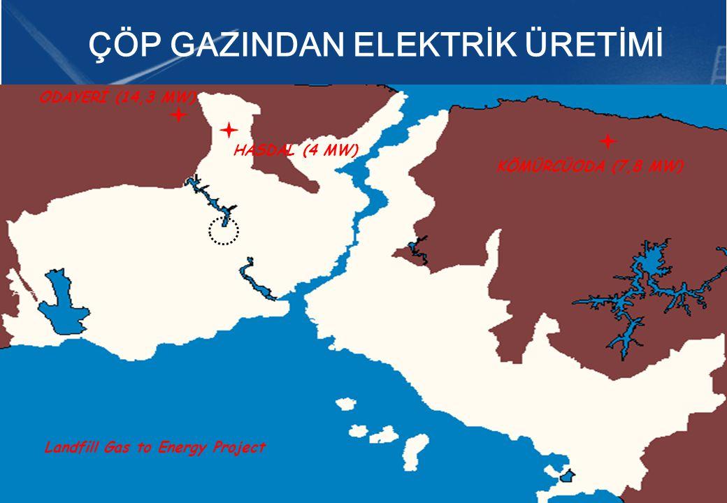 ODAYERİ (14,3 MW) KÖMÜRCÜODA (7,8 MW) Landfill Gas to Energy Project HASDAL (4 MW) ÇÖP GAZINDAN ELEKTRİK ÜRETİMİ
