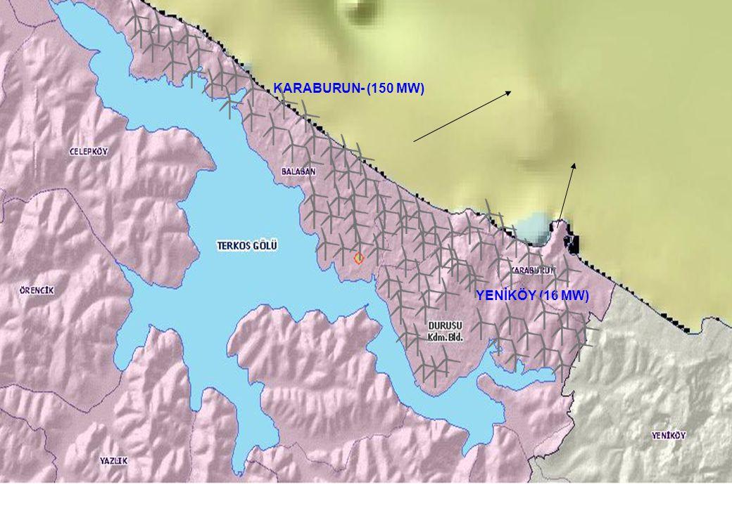 KARABURUN- (150 MW) YENİKÖY (16 MW) 6