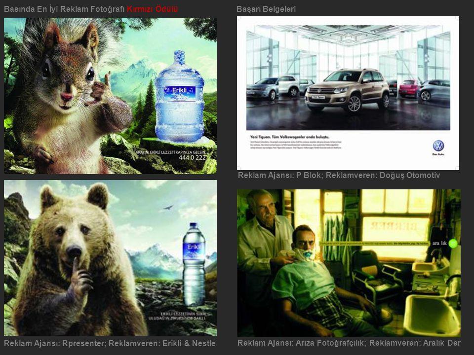 Basında En İyi Reklam Fotoğrafı Kırmızı ÖdülüBaşarı Belgeleri Reklam Ajansı: P Blok; Reklamveren: Doğuş Otomotiv Reklam Ajansı: Rpresenter; Reklamvere