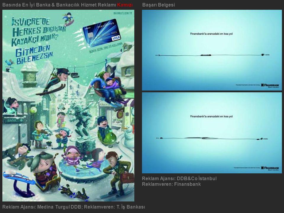 Reklam Ajansı: Medina Turgul DDB; Reklamveren: T. İş Bankası Basında En İyi Banka & Bankacılık Hizmet Reklamı Kırmızı Başarı Belgesi Reklam Ajansı: DD