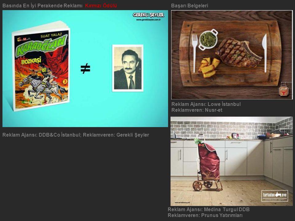 Reklam Ajansı: Medina Turgul DDB Reklamveren: Prunus Yatırımları Basında En İyi Perakende Reklamı Kırmızı ÖdülüBaşarı Belgeleri Reklam Ajansı: DDB&Co