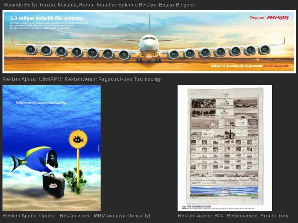 Basında En İyi Turizm, Seyahat, Kültür, Sanat ve Eğlence Reklamı Başarı Belgeleri Reklam Ajansı: Grafikir; Reklamveren: MNM Avrasya Orman İşl. Reklam