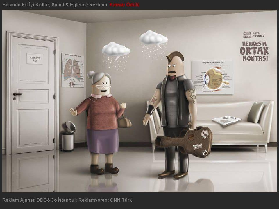 Basında En İyi Kültür, Sanat & Eğlence Reklamı Kırmızı Ödülü Reklam Ajansı: DDB&Co İstanbul; Reklamveren: CNN Türk