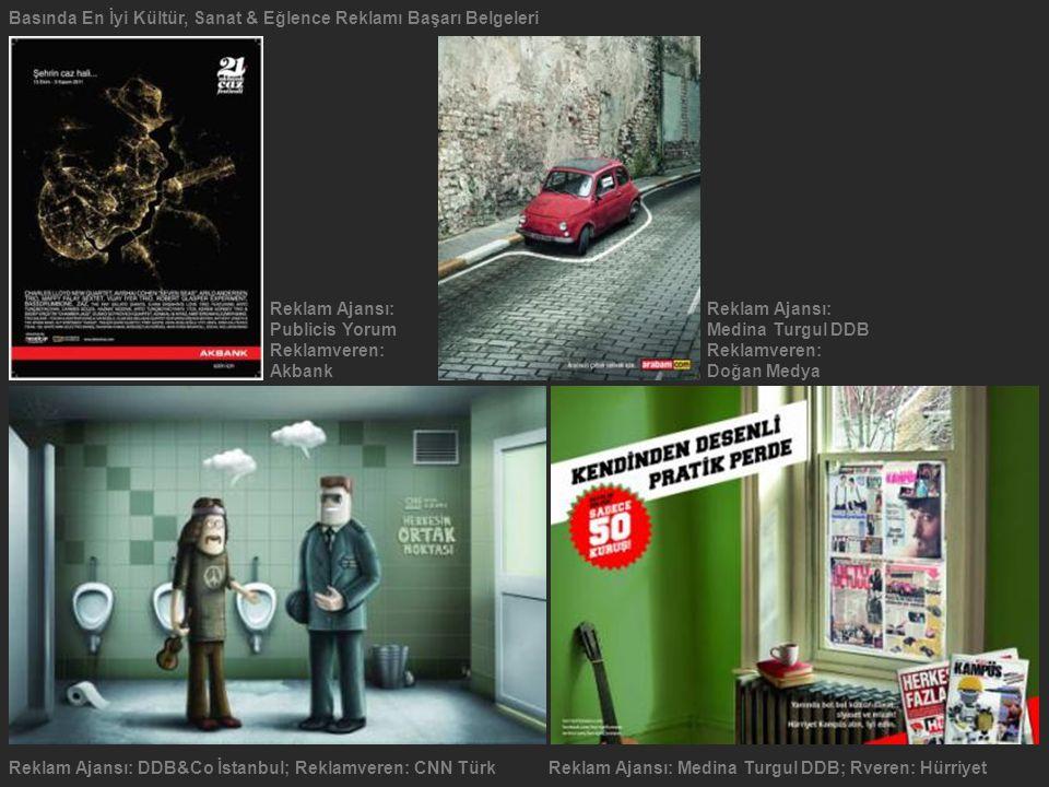 Reklam Ajansı: DDB&Co İstanbul; Reklamveren: CNN TürkReklam Ajansı: Medina Turgul DDB; Rveren: Hürriyet Reklam Ajansı: Publicis YorumMedina Turgul DDB