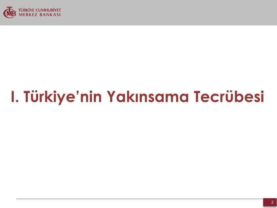 2 2 I. Türkiye'nin Yakınsama Tecrübesi