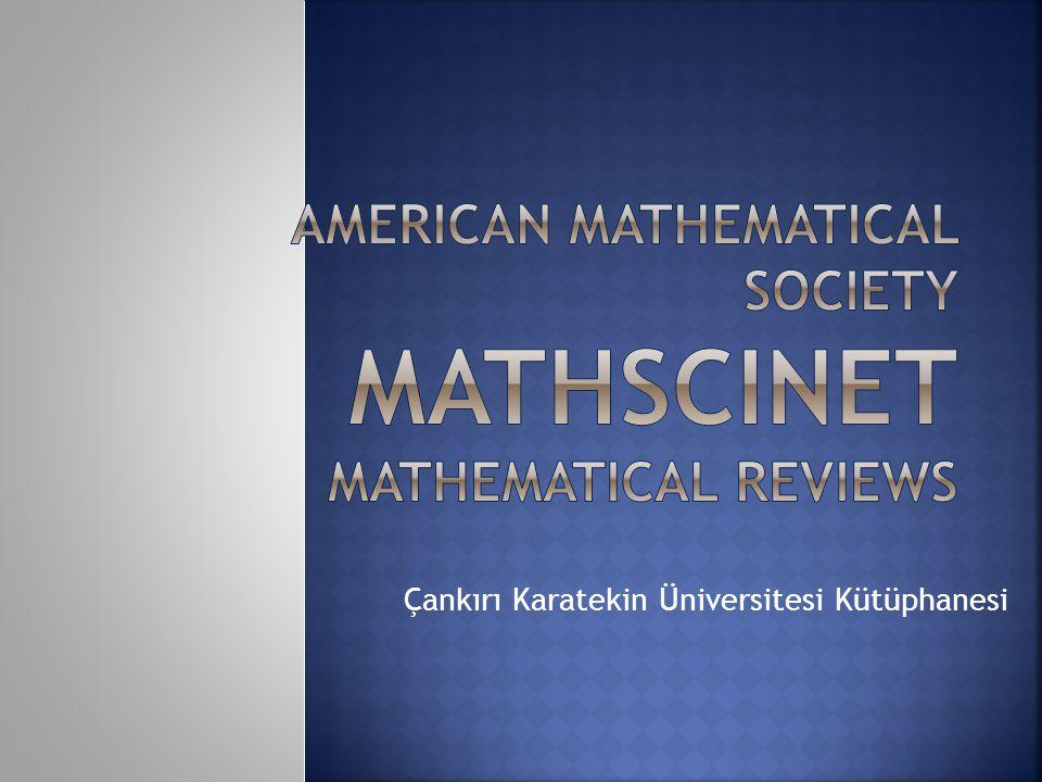 Çankırı Karatekin Üniversitesi Kütüphanesi Farklı veri tabanlarından derginin ana sayfasına link verilmiştir.